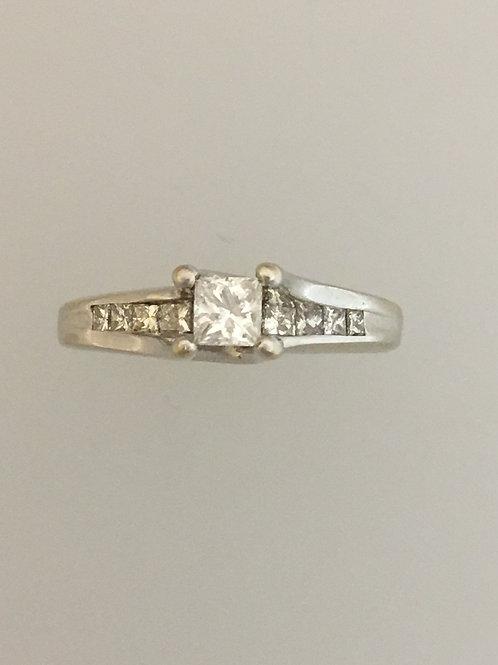 14k White Gold .60 TW Diamond Ring Size - 3