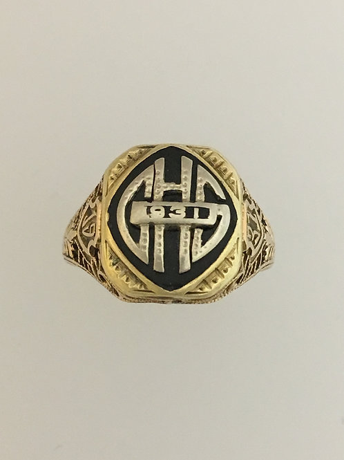 10k Yellow Gold 1931 Class Ring Size - 7