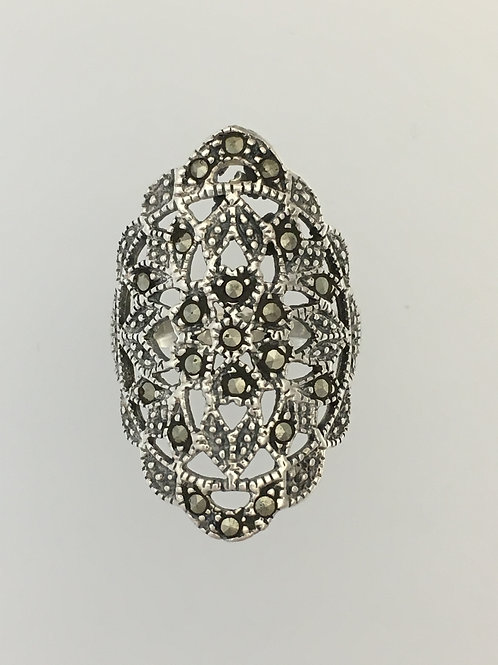 925 Marcasite Ring Size - 7