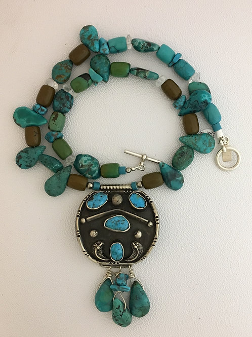 "925 & Turquoise 19"" Necklace"