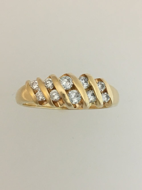 14k Yellow Gold 1 Carat Diamond Ring Size - 10 1/4