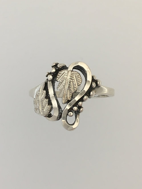 925 Leaf Ring Size - 10