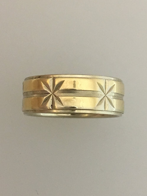 14k White Gold/Yellow Gold Ring Size - 7