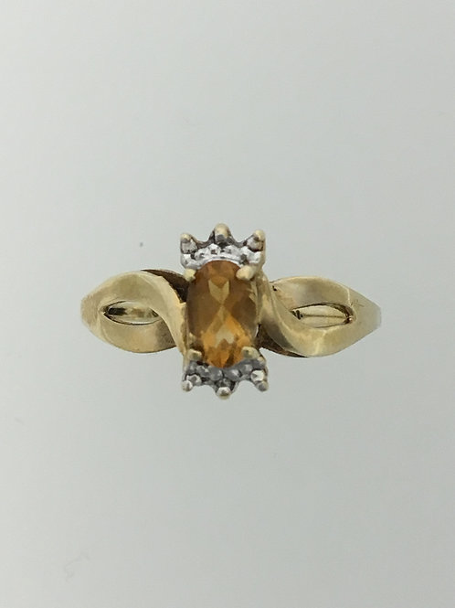 10k Yellow Gold and .50 Citrine Ring Size - 7 3/4