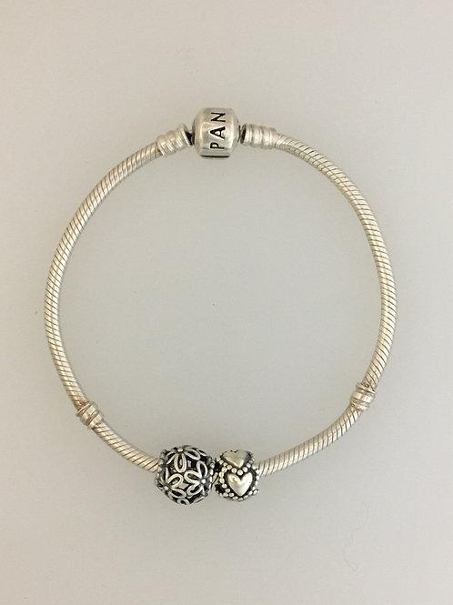 """925 Pandora 7 1/2"""" Bracelet"""
