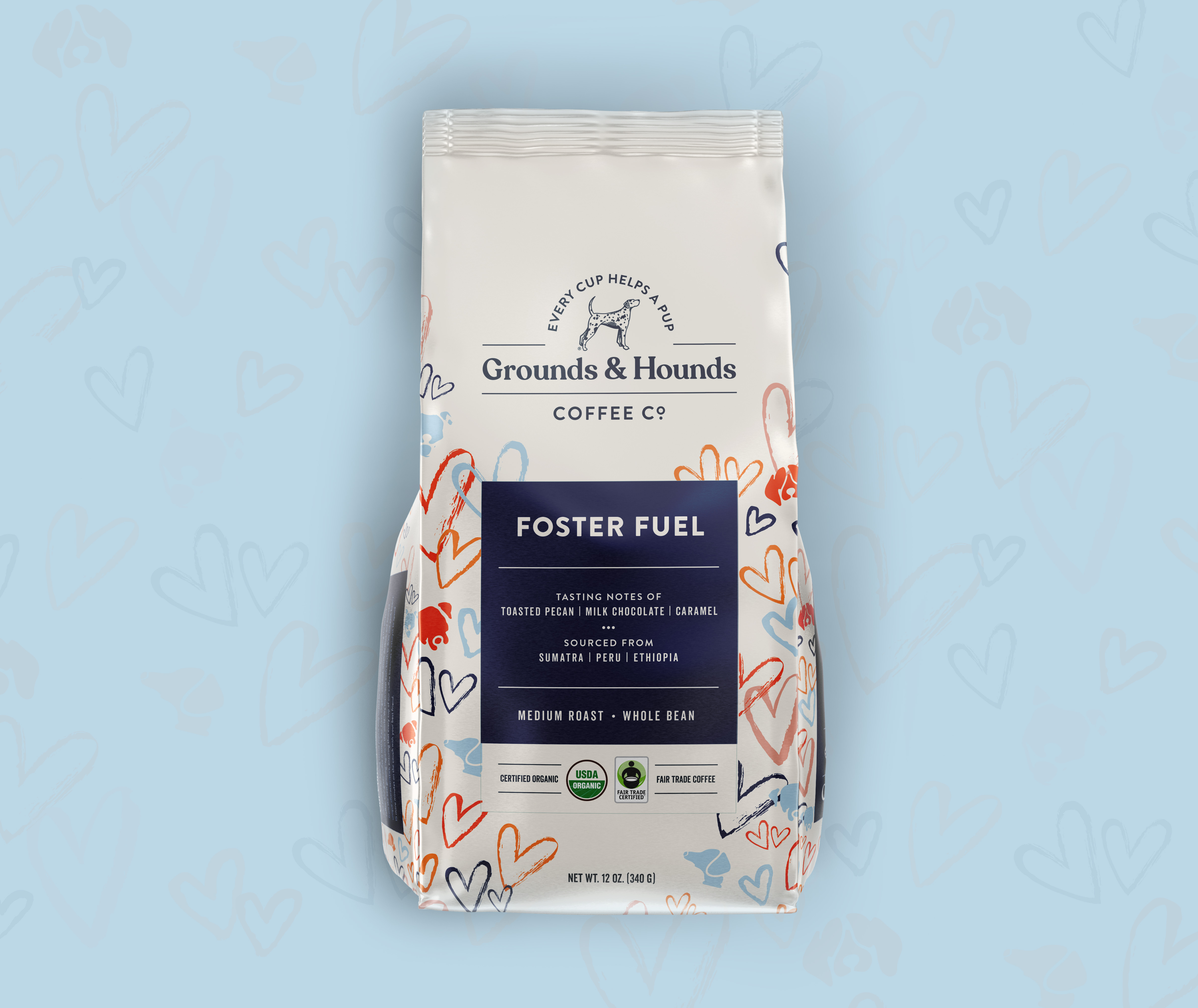 Grounds & Hounds Packaging Pattern
