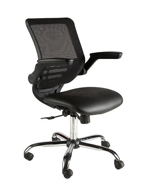 Mesh back task chair fold away arms