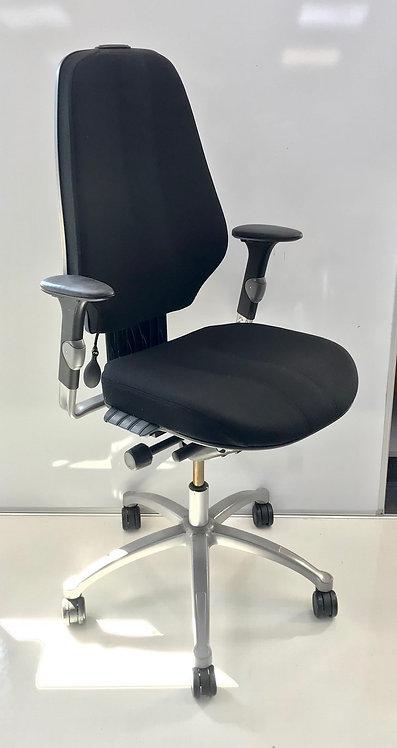 R H Logic 400 XL Black executive operator armchair