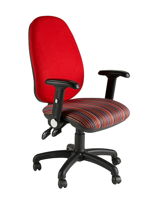 Deluxe twin lever operator folding-arm chair