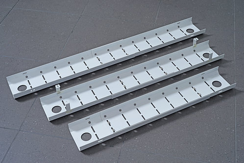 Universal Width Adjustable Cable Tray Black (WxDxH) 1050-1450x180x110mm