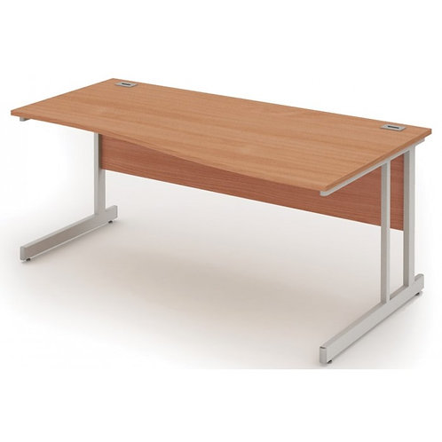 Fraction 1400mm Oak Right Hand Wave Workstation