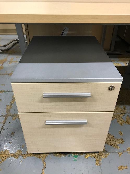 copy of Maple 3 drawer under-desk mobile pedestal