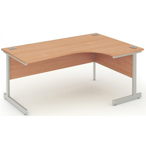 Fraction 1600mm Beech Right Hand Core Workstation