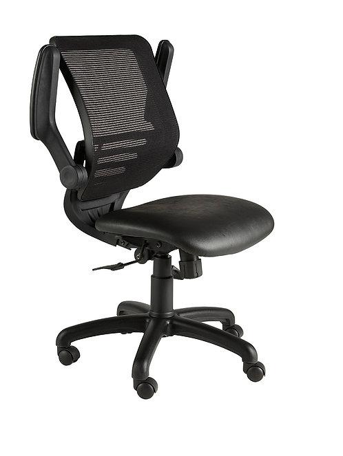 Mesh back task chair with foldaway arms