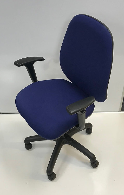 Blue multi-function operator armchair