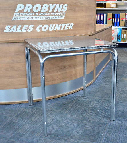 Chrome square meeting/canteen table