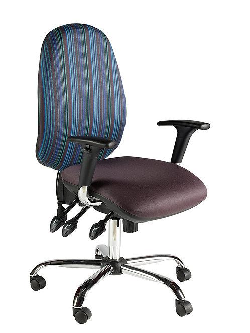 Large back task chair adjustable arm