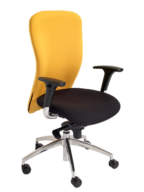 Executive task chair with adjustable arms