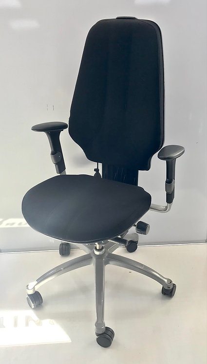 R H Logic 400 Black executive operator armchair with headrest