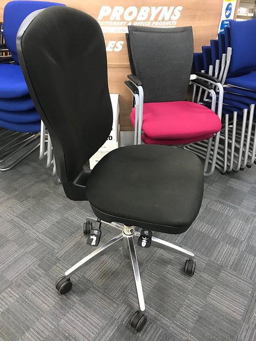 Black high back operator armchair