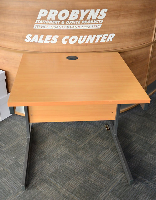 Light Oak 800x800mm square desk