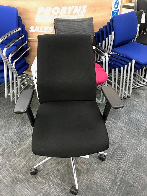 Wide base Black operator armchair