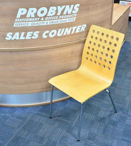 Maple laminate stacking visitor chairs
