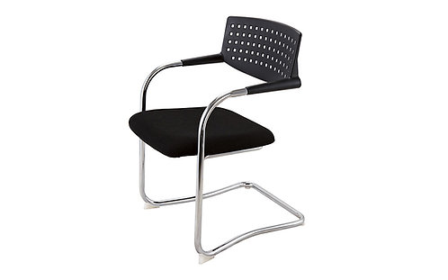 Stackable Meeting Chair With Airflow Mesh Black