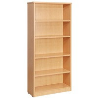 Fraction High Bookcase With 4 Shelves 2000mm Oak