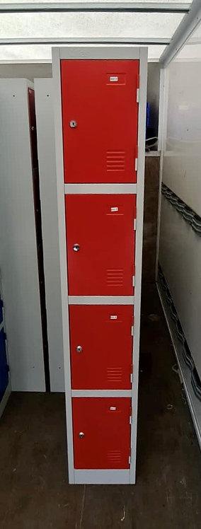 Red Four door storage locker unit