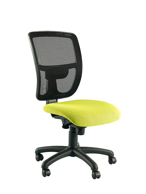 Mesh high back executive chair with no arms
