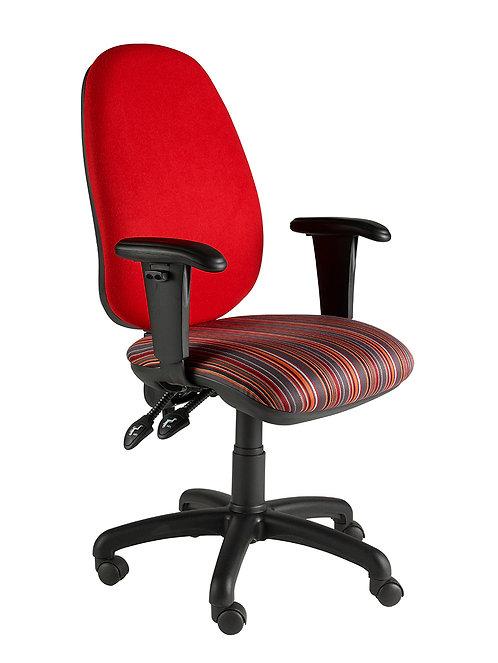 Deluxe twin lever operator adjustable armchair