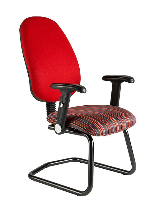 Deluxe cantilever folding-arm chair