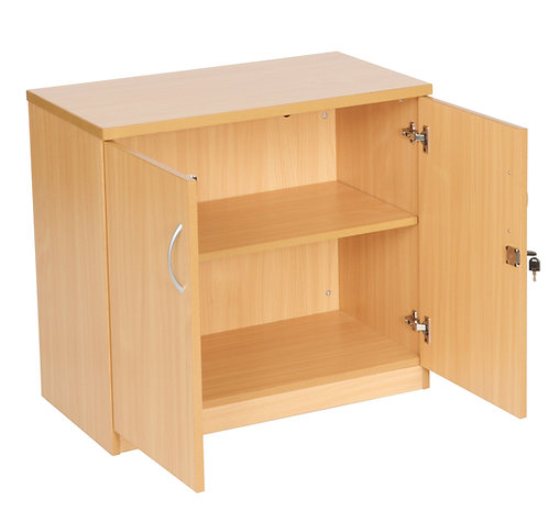 Desk High Double Door Cupboard With 1 Shelf (WxDxH) 800x450x730mm
