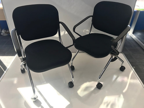 Black flip up meeting/visitor chair
