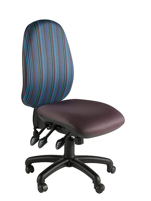 Round back task chair with no arms