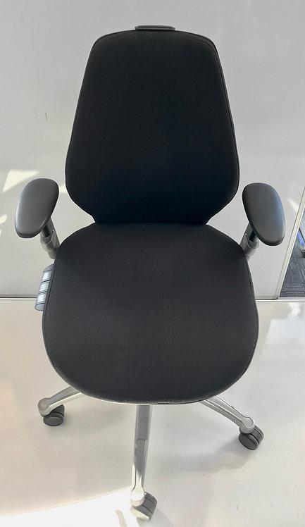 R H Logic 300 XL Black executive operator armchair