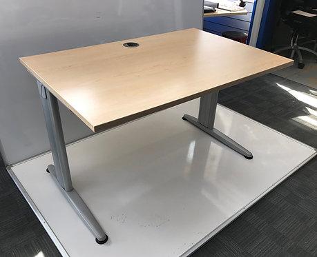 Senator 1200x800x730mm straight desk in Maple