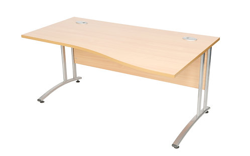 Endurance 1600mm Right Handed Wave Desk Beech (WxDxH) 1600x1000/800x730m