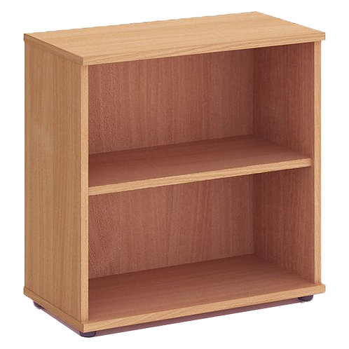 Fraction High Bookcase With 1 Shelf 800mm Oak