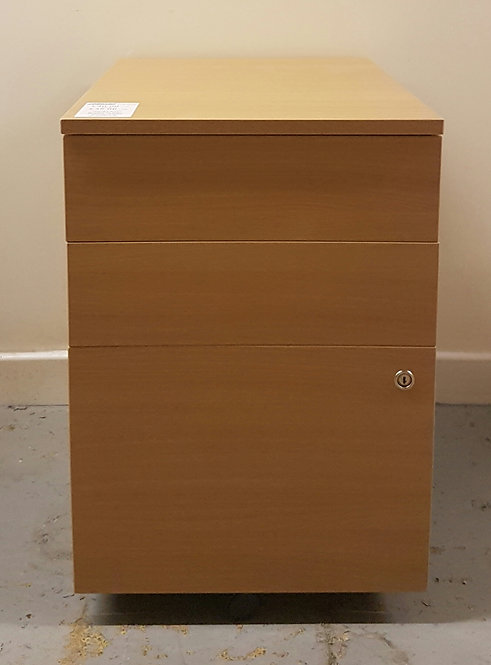 Under Desk 3 Drawer Pedestal Beech