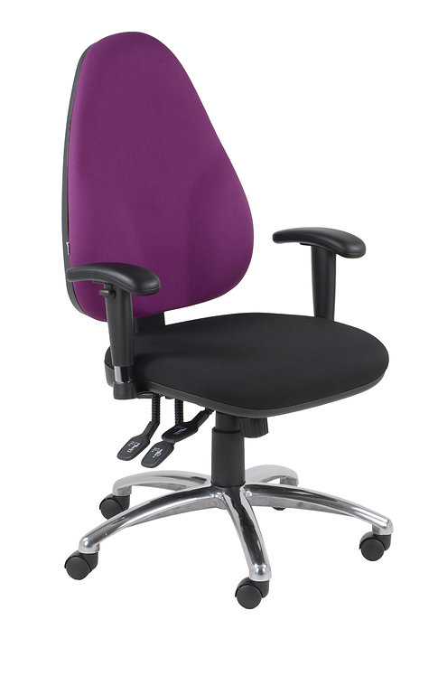 Large back task armchair