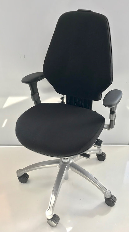 R H Logic 300 Black executive operator armchair
