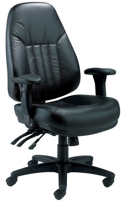Panther Executive Leather High Back Chair Black