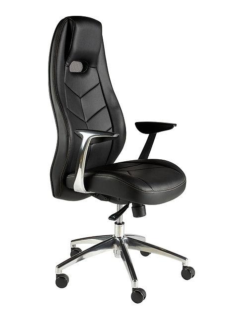 High back executive chair with PU armpad