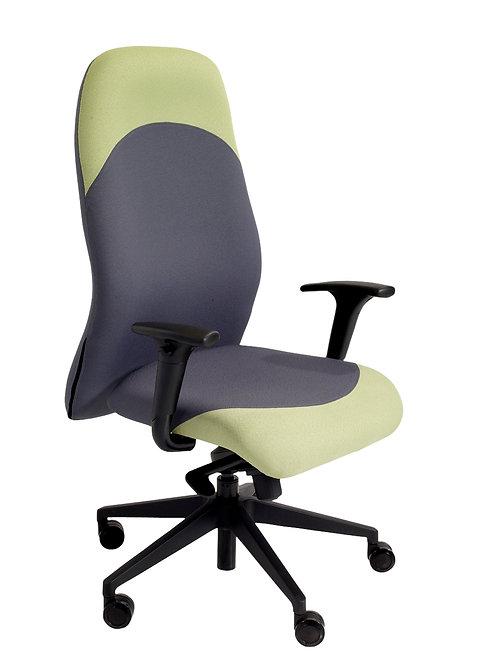 High back task chair adjustable arms