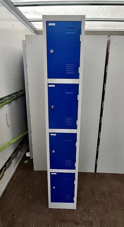 Blue Four door storage locker unit