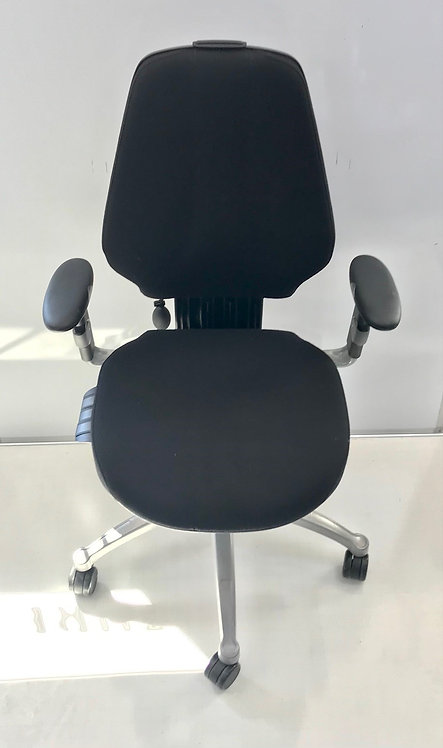 R H Logic 300 Black executive operator armchair with headrest
