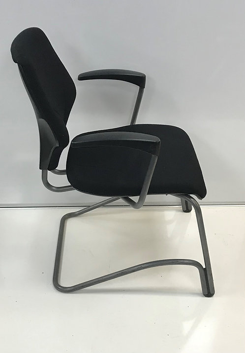 set of 5 Black cantilever leg meeting/visitor armchair