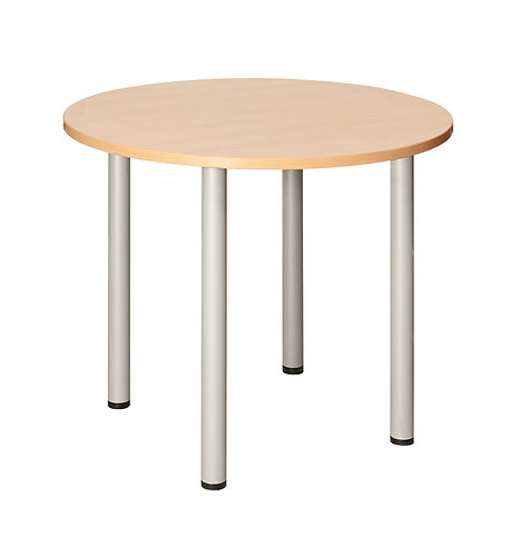 Fraction Circular Meeting Table 1200mm Beech